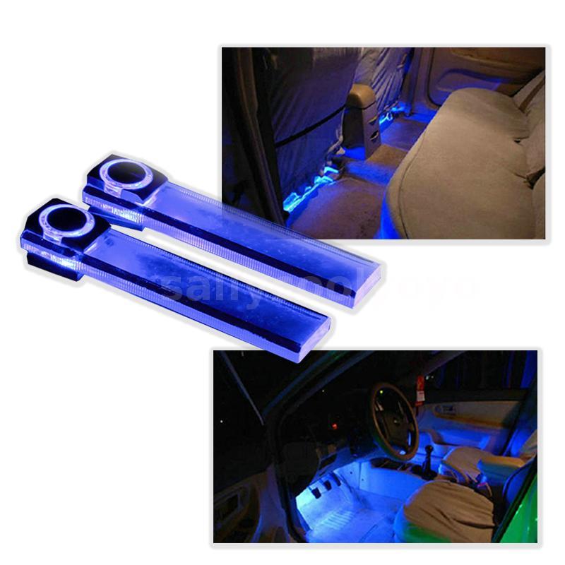 4 en 1 12v ambiente interior led luces del coche l mpara - Decoracion interior coche ...